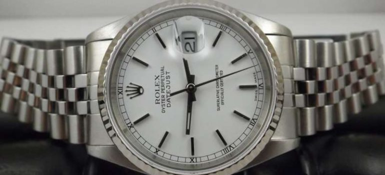 Rolex lady Oyster Perpetual quadrante argento